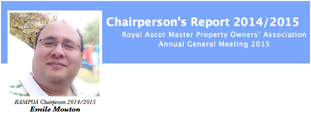 Chairmans Report 2014/2015